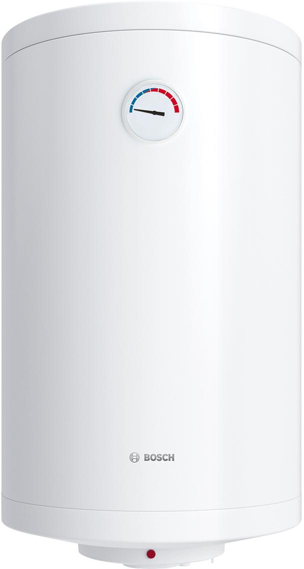 Водонагреватель электрический накопительный Bosch Tronic 2000T, 150 л, 2000 Вт. BO M1X-KTWVB7736503312Удобное механическое регулированиеУправление температурой нагрева осуществляется с помощью ручки регулятора на корпусе водонагревателя. Таким образом, при установке температуры до 70С водонагреватель будет постоянно поддерживать заданное значение при работе.Высокая устойчивость внутреннего покрытия к перепадам давленияБак протестирован при давлении 16 бар, что в два раза больше чем обычное давление воды в домах и квартирах. Такая устойчивость достигается благодаря антибактериальному стеклокерамическому покрытию внутри водонагревателей Tronic. Быстрый нагрев благодаря мощному тэнуМощность тена в зависимости от модели составляет 1,2–2 кВт. Благодаря этому время нагрева воды с 15 до 65 градусов составляет полтора часа в модели Slim и от двух до четырех в стандартных моделях водонагревателей Tronic объемом 50-150 литров. Все модели оборудованы термометром для отображения степени нагрева горячей воды.Стержневой термостат для защиты от перегреваСтержневой термостат является самым распространённым среди всех термостатов устанавливаемых в водонагреватели. Представляет из себя трубку небольшого диаметра. При нагреве трубка расширяется и давит на выключатель, который в свою очередь прекращает процесс нагрева.Низкие теплопотери благодаря уникальной теплоизоляции, толщиной 25 ммБлагодаря уникальной теплоизоляции моделей Tronic теплопотери для модели Slim составляют 0,9 кВт в сутки. В стандартных моделях от 1,2 до 2,2 кВт. Если температура падает ниже установленных значений, то начинается процесс нагрева.Тэн подогревает воду в баке до определенной температуры и при помощи термостата отключается. Когда температура воды в баке достигает значений ниже установленной, это отслеживает встроенный термостат и включает тэн, который догревает воду. В таком режиме постоянного подогрева тратится небольшое количество энергии. Вода при этом всегда необходимой температуры.