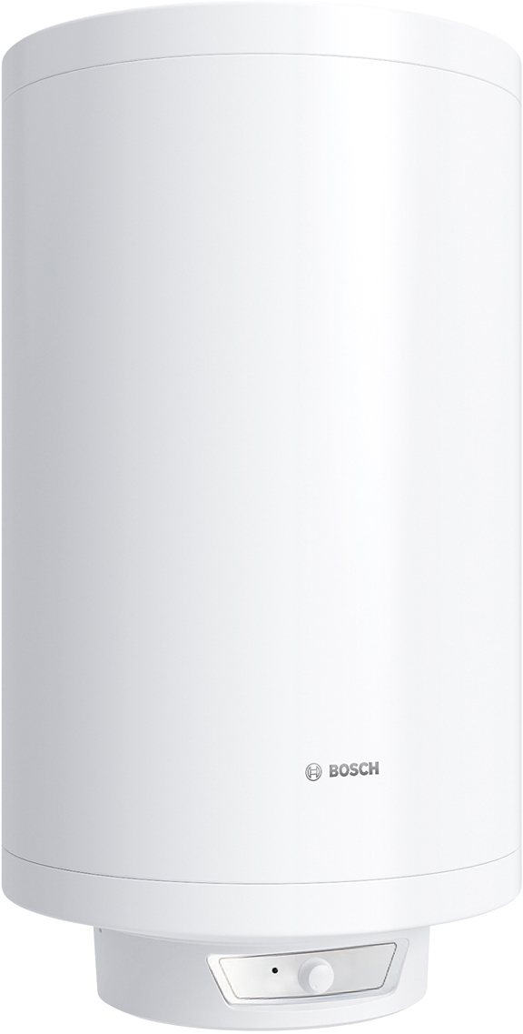 Водонагреватель электрический накопительный Bosch Tronic 6000T, 80 л, 2000 Вт. BO H1X-CTWRB7736503608Горизонтальный и вертикальный монтажС помощью входящей в комплект монтажной планки возможно смонтировать водонагреватель как в вертикальном, так и в горизонтальном положении, в зависимости от потребностей места монтажа. На изменение работы водонагревателя тип монтажа не влияет. Важно предусмотреть параметры водонагревателя и его вес с водой. Установить водонагреватель можно как в непосредственной близости к использованию горячей воды (баня, ванная комната или кухня) или можно повесить в кладовке, подвале, отапливаемом гараже. Можно закрыть, например, в предусмотренных для этого технических нишах, оставив предварительно инспекционное окно для осмотра и регулирования температуры.Удобное механическое регулирование tУправление температурой нагрева осуществляется с помощью ручки регулятора на корпусе водонагревателя. Таким образом, при установке температуры до 70С водонагреватель будет постоянно поддерживать заданное значение при работе.Низкие теплопотери благодаря уникальной теплоизоляции, толщиной 32 ммБлагодаря уникальной теплоизоляции моделей Tronic теплопотери составляют 0,8- 1,5 кВт в сутки. Сухой тэнЕсли используемая для нагрева вода с большим количеством примесей, то лучше выбрать модель с сухим тэном как в моделях Tronic 6000T и 8000T . Тэн находится в колбе и все осадки оседают на колбе, а не на самом тэне. Как следствие, увеличенный период службы тэна из-за отсутствия прямого контакта с водой, а в случае поломки его можно быстро заменить без необходимости полностью откручивать фланец и сливать воду, как в случае с обычными тэнами.Капиллярный термостатБолее точный термостат по сравнению с обычными стержневыми. Представлен в виде трубки, в которой находится термочувствительный баллон с жидкостью. При нагревании плотность жидкости меняется и она нажимает на выключатель, прекращающий процесс нагрева. Капиллярные термостаты являются более точными по сравнению со сте