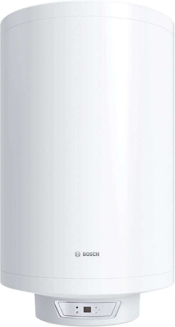 Водонагреватель электрический накопительный Bosch Tronic 8000T, 100 л, 2000 Вт. BO H1X-EDWRB7736503148Горизонтальный и вертикальный монтажС помощью входящей в комплект монтажной планки возможно смонтировать водонагреватель как в вертикальном, так и в горизонтальном положении, в зависимости от потребностей места монтажа. На изменение работы водонагревателя тип монтажа не влияет.Точная регулировка температуры благодаря электронному термостатуНаиболее технологически совершенный термостат из всей линейки. Работает на основе изменения сопротивления датчика под воздействием температуры. При помощи такого термостата можно управлять работой бойлера с точностью до 1-3°С. Такого рода термостаты обеспечивают максимальную энергоэффективность бойлера и позволяют экономить на счетах за электроэнергию. Таким образом, при установке температуры до 70С водонагреватель будет постоянно поддерживать заданное значение при работе.Сухой тэнЕсли используемая для нагрева вода с большим количеством примесей, то лучше выбрать модель с сухим тэном как в моделях Tronic 6000T и 8000T . Тэн находится в колбе и вся осадки оседают на колбе, а не на самом тэне. Как следствие, увеличенный период службы тэна из-за отсутствия прямого контакта с водой, а в случае поломки его можно быстро заменить без необходимости полностью откручивать фланец и сливать воду, как в случае с обычными тэнами.Низкие теплопотери благодаря уникальной теплоизоляции, толщиной 32 ммБлагодаря уникальной теплоизоляции моделей Tronic теплопотери составляют 0,8- 1,5 кВт в сутки. Если температура падает ниже установленных значений, то начинается процесс нагрева.Тэн подогревает воду в баке до определенной температуры и при помощи термостата отключается. Когда температура воды в баке достигает значений ниже установленной, это отслеживает встроенный термостат и включает тэн, который догревает воду. В таком режиме постоянного подогрева тратится небольшое количество энергии. Вода при этом всегда необходимой температуры.