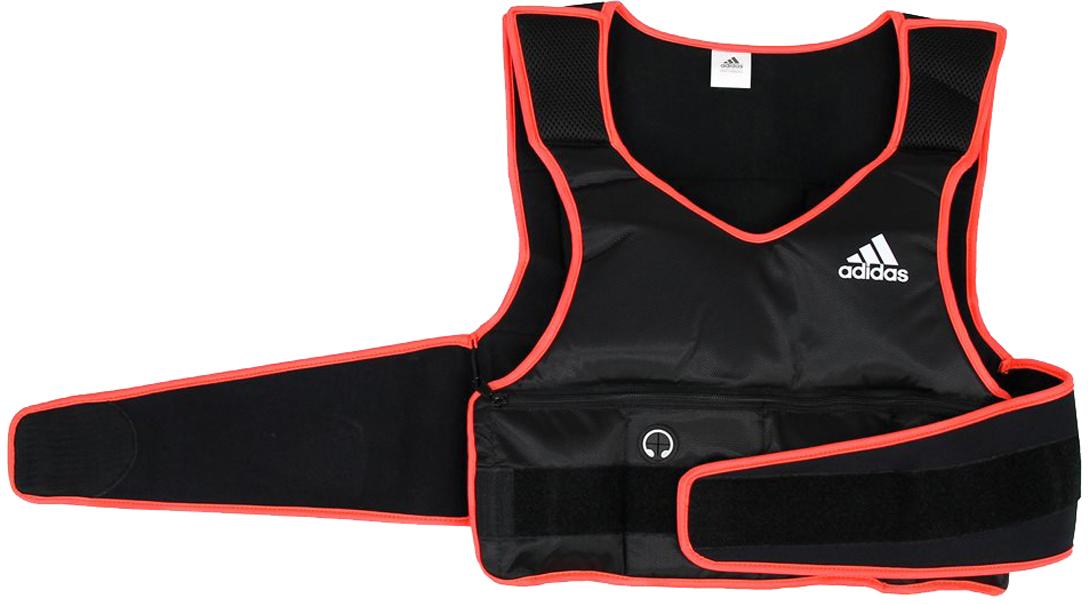 Жилет Adidas, с утяжелителями, 5 кгADSP-10702Жилет Adidas сконструирован таким образом, чтобы распределять вес равномерно по корпусу, позволяя при этом двигаться свободно. Жилет имеет широкий пояс на липучке, что позволяет легко надеть его на любую одежду для тренировок. Общий вес до 5 кг / съемные грузы (10 шт по 0,45 кг).