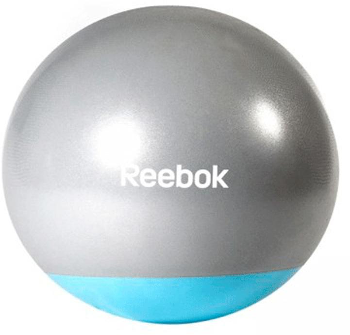 Мяч гимнастический Reebok Gymball Two Tone, антивзрыв, цвет: серый, голубой, диаметр 55 смRAB-40015BLОболочка мяча изготовлена по уникальной, специально разработанной технологии, которая обеспечивает высокую устойчивость поверхности к деформации, надежное сцепление с ладонью.Мячи Reebok покрыты специальной оболочкой anti-burst от внезапного разрыва. Это не значит, что его надо колоть и бить. Нет, это сделано для того, чтобы при случайном проколе мяч не взрывался, а плавно сдувался для снижения риска получить травму.Размер 55 см.Мяч поставляется в сдутом виде. Насос в комплект не входит.