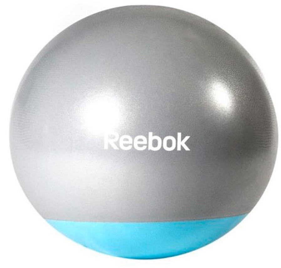Мяч гимнастический Reebok Gymball Two Tone, антивзрыв, цвет: серый, голубой, диаметр 65 смRAB-40016BLОболочка мяча изготовлена по уникальной, специально разработанной технологии, которая обеспечивает высокую устойчивость поверхности к деформации, надежное сцепление с ладонью.Мячи Reebok покрыты специальной оболочкой anti-burst от внезапного разрыва. Это не значит, что его надо колоть и бить. Нет, это сделано для того, чтобы при случайном проколе мяч не взрывался, а плавно сдувался для снижения риска получить травму.Размер 65 см.Мяч поставляется в сдутом виде. Насос в комплект не входит.