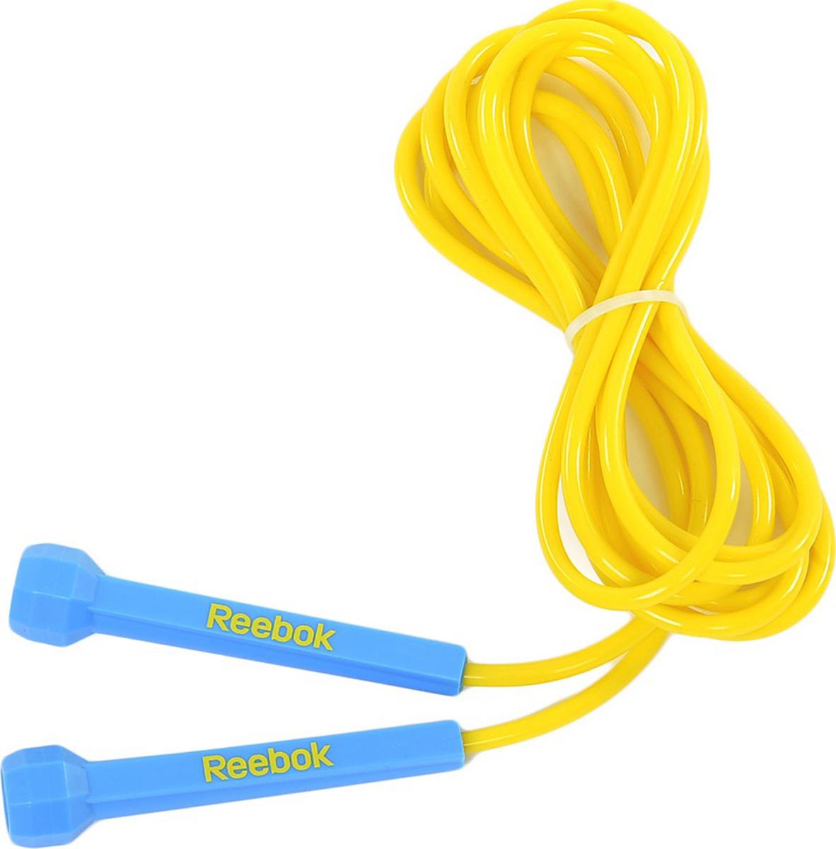 Скакалка Reebok, цвет: голубой, 3 мRARP-11081CYЭта скакалка адаптируется к любому пользователю путем простого изменения длины; она легкая и быстрая, что позволяет концентрироваться на тренировках скорости ног, а не на развитии верхнего плечевого пояса. Подход к дизайну ручек основан на минимализме, вы можете держать ручку буквально двумя пальцами, что ведет к реальной легкости движений.