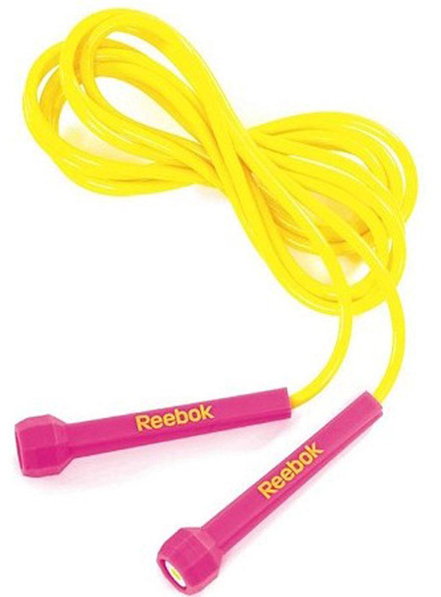 Скакалка Reebok, цвет: желтый, лиловый, 3 мRARP-11081MGЭта скакалка адаптируется к любому пользователю путем простого изменения длины; она легкая и быстрая, что позволяет концентрироваться на тренировках скорости ног, а не на развитии верхнего плечевого пояса. Подход к дизайну ручек основан на минимализме, вы можете держать ручку буквально двумя пальцами, что ведет к реальной легкости движений.