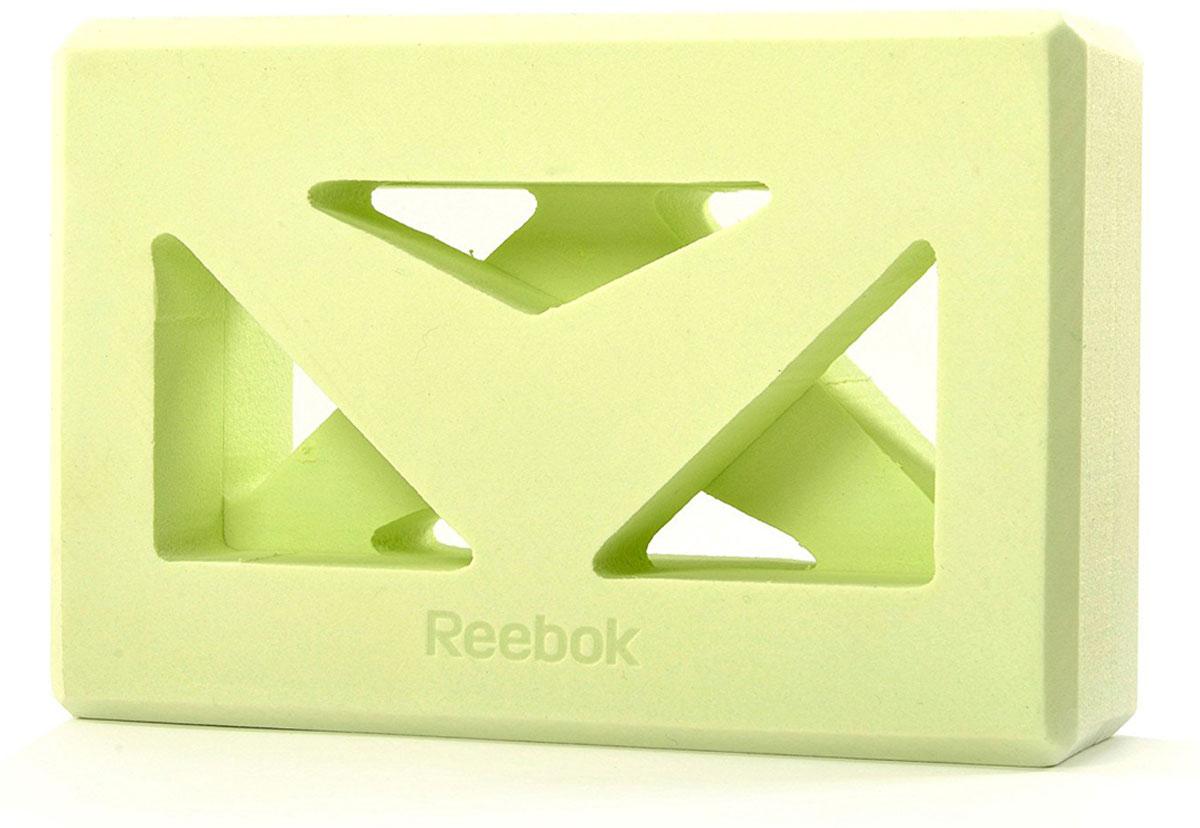 Кирпич для йоги Reebok, с прорезями, 22,5 х 15 х 7,6 см кирпич для йоги с прорезями reebok rayg 10035gn