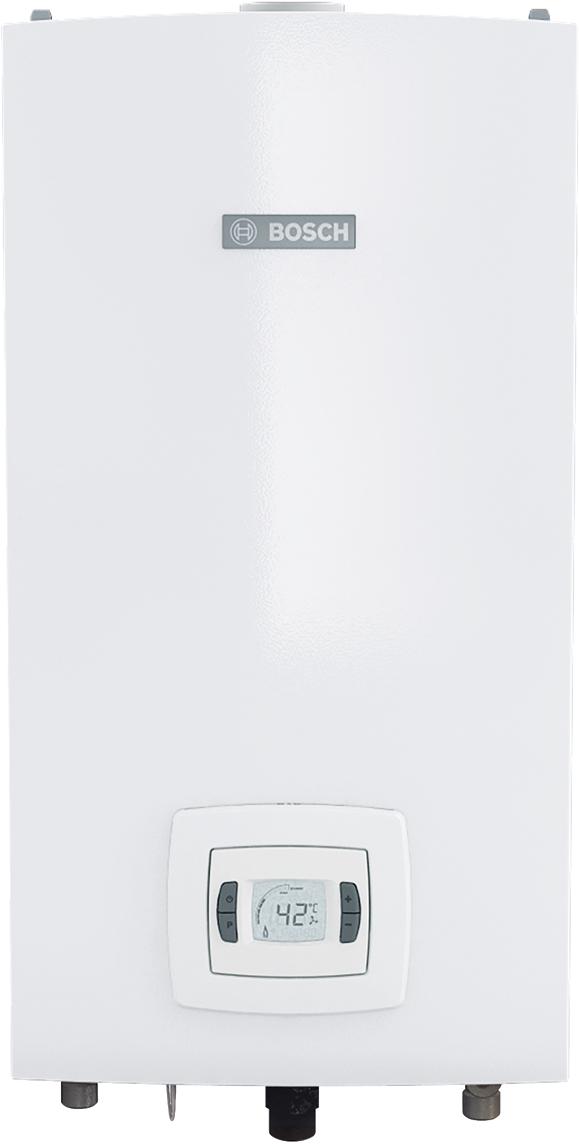 Водонагреватель газовый проточный Bosch WTD18 AME, 31,6кВт7736502894Газовый проточный водонагреватель с закрытой камерой сгорания является оптимальным решением для квартир и коттеджей без дымохода. - Коаксиальный дымоход диаметром 80/110 или 60/100- Атмосферная горелка из нержавеющей стали для природного или сжиженного газа- Включается при давлении воды 0,1 Атм- Датчик температуры и расхода воды на входе- Электронный розжиг- Встроенный вентилятор принудительного удаления продуктов сгорания- Ионизационный контроль пламени- Дисплей для отображения температуры и кодов ошибок- Теплообменник изготовлен из высококачественной меди- Постоянная электронная модуляция мощности по температуре и протоку- Контроль температуры горячей воды с точностью до 1°С- Подключение к сети 220В