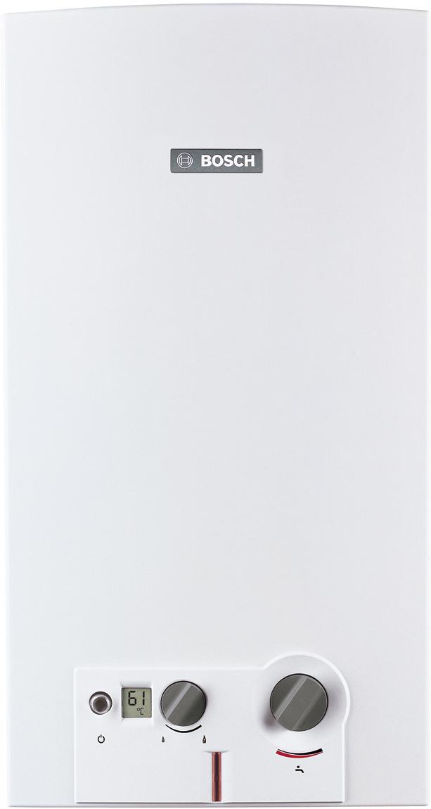 Водонагреватель газовый проточный Bosch WRD13-2 G23, 22,6кВт7702331717Газовый проточный водонагреватель Therm 6000 O полностью автоматизирован благодаря встроенному блоку розжига HydroPower. Поток воды вращает турбину, что приводит гидрогенератор в действие. Гидрогенератор производит электроэнергию, которая питает электронный блок аппарата и создает электрический разряд для розжига.Многофункциональный ЖК дисплей позволяет одновременно увидеть всю важную информацию, такую как температура воды или сообщение об ошибке. Все элементы управления отличаются ясностью, эргономичным дизайном, рассчитаны на то, чтобы создать максимум удобств и сделать пользование колонкой простым. - Автоматический розжиг от встроенного гидрогенератора (технология HydroPower) - Автоматическое поддержание температуры при изменении напора воды - Включается при давлении воды 0,35 Атм - Неограниченный период непрерывной работы - Предохранительный датчик от перегрева - Датчик контроля дымовых газов - Ионизационный контроль пламени - ЖК-дисплей для отображения температуры и кодов ошибок - Теплообменник изготовлен из высококачественной меди - срок службы 15 лет - Горелка из нержавеющей стали