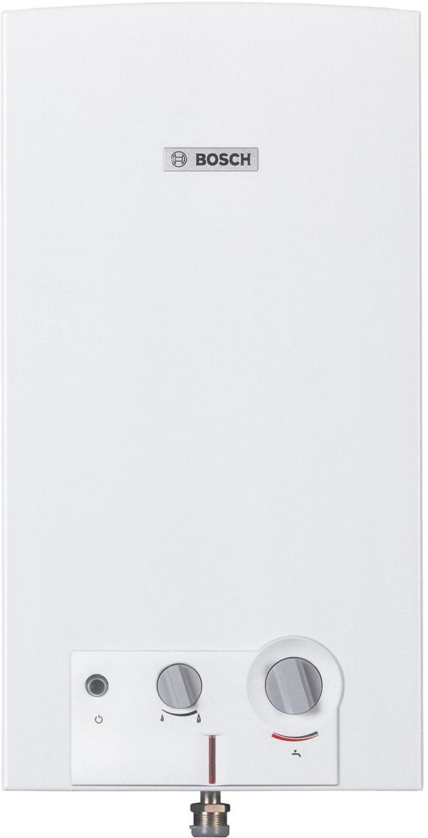 Водонагреватель газовый проточный Bosch WR10-2 P23 S5799, 17,4кВт7736501463Газовый проточный водонагреватель серии Therm 4000 O с пьезорозжигом и датчиком обратной тягиПреимущества Bosch WR 10:- Понятные и удобные в обращении элементы управления- Специальные предохранительные устройства, обеспечивающие оптимальную защиту- Компактность, элегантность и простота инсталляции- Пьезоэлектрический розжиг- Производительность 10 л/мин- Включается при давлении воды 0,1 Атм.- Раздельная регулировка по мощности и по протоку воды- Постоянно горящий запальник- Атмосферная горелка из нержавеющей стали для природного или сжиженного газа- Ионизационный датчик контроля пламени- Предохранительный датчик от перегрева- Медный теплообменник, срок службы - 15 лет- Ограничитель температуры на выходе горячей воды