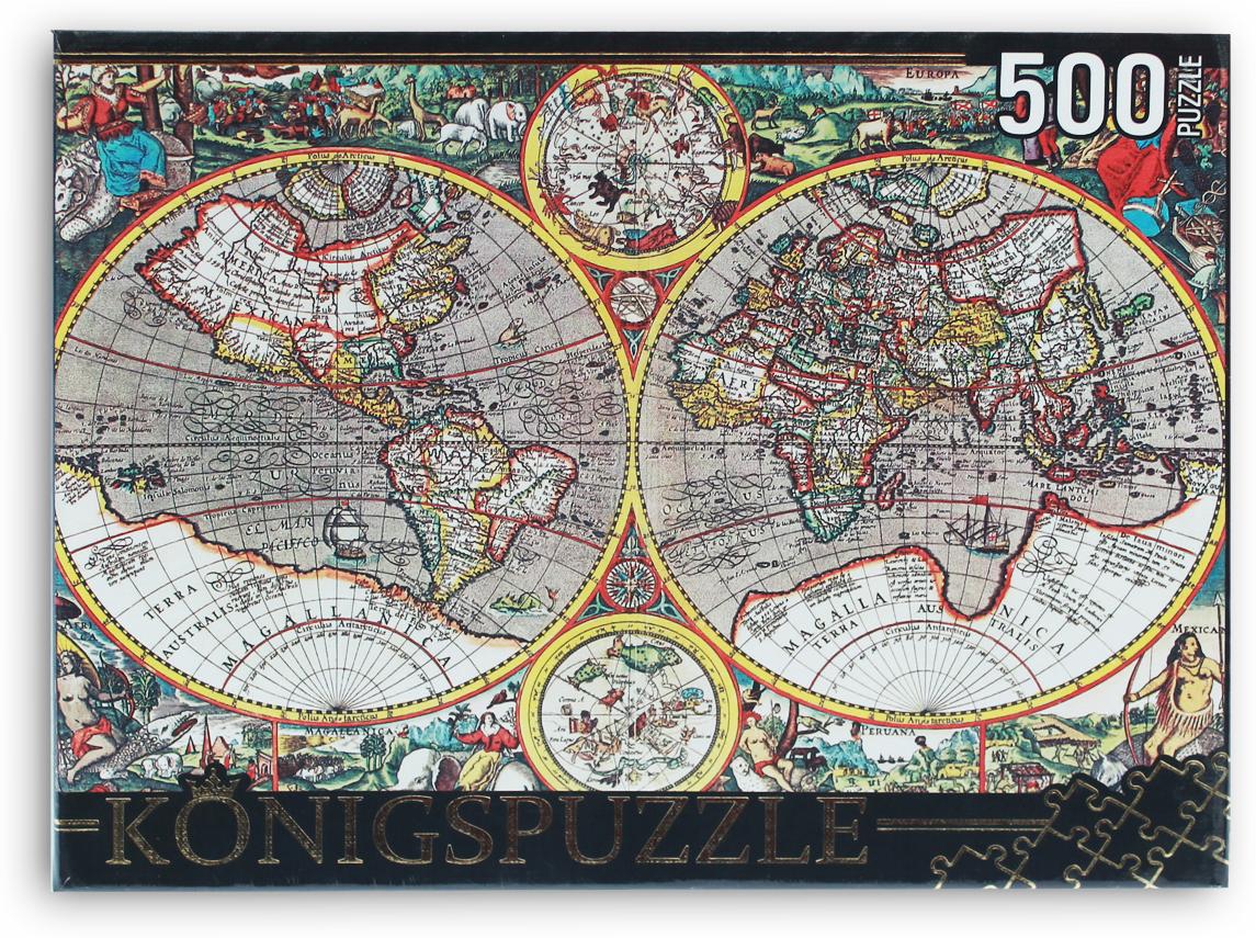 Konigspuzzle Пазл Древняя карта мира