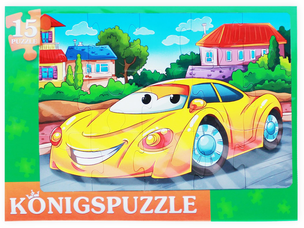 Konigspuzzle Пазл-рамка для малышей Модная машинка -