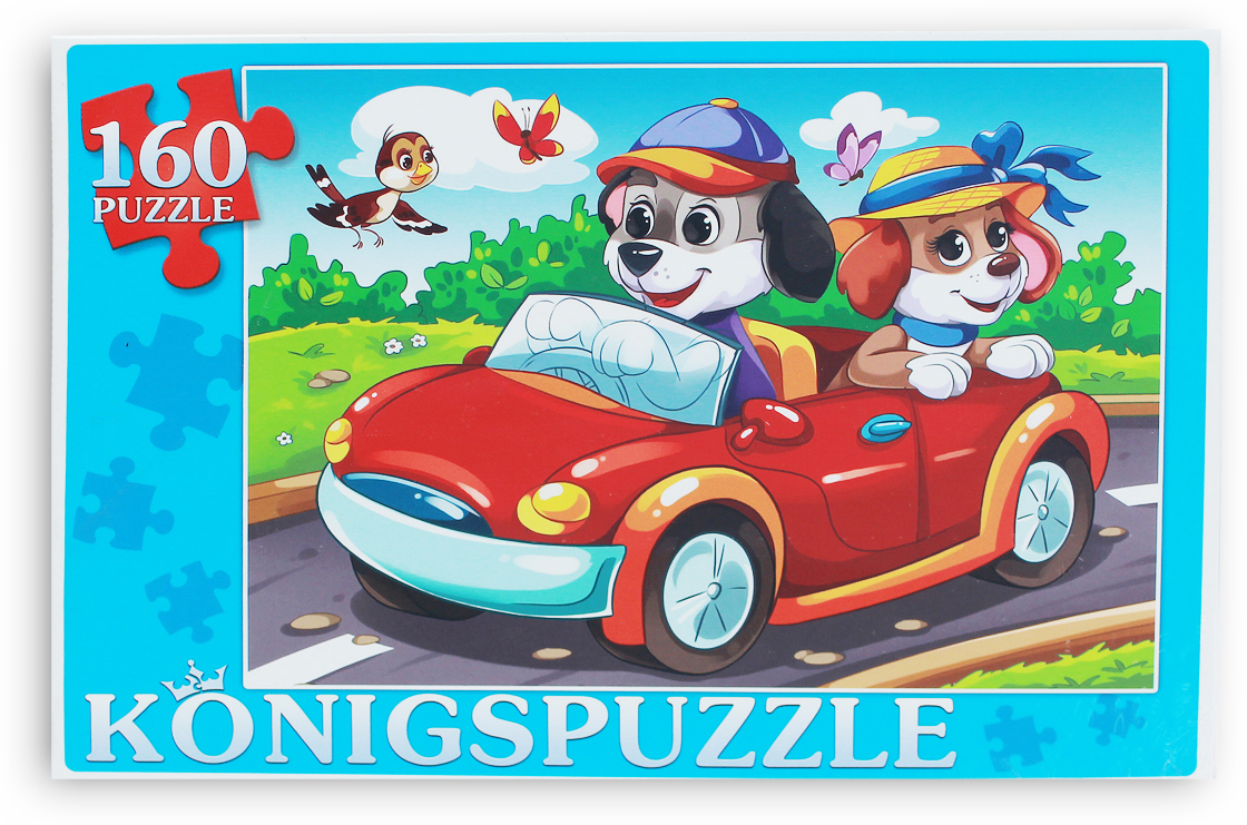 Konigspuzzle Пазл Щенки в автомобиле