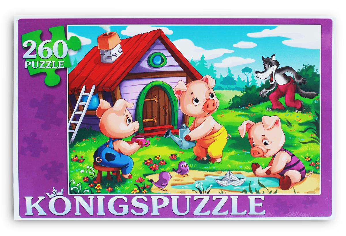 Konigspuzzle Пазл Три поросенка-1