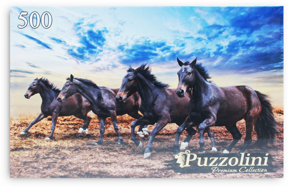 Puzzolini Пазл Лошадиный галоп/galloping horses