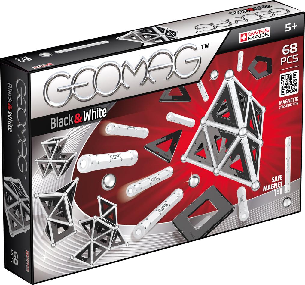 Geomag Конструктор магнитный Black & White 68 элементов geomag конструктор магнитный mechanics 164 элемента