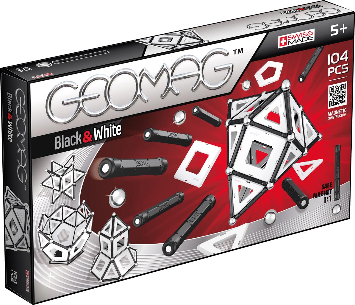 Geomag Конструктор магнитный Black & White 104 элемента