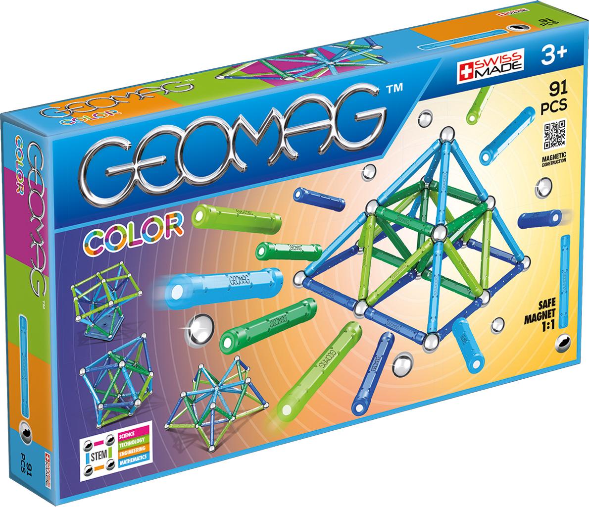 Geomag Конструктор магнитный Color 91 элемент geomag конструктор магнитный mechanics 164 элемента