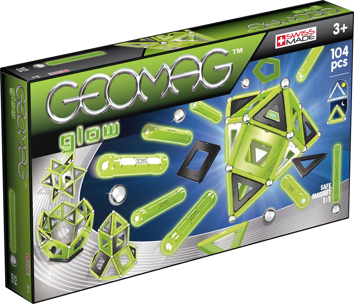 Geomag Конструктор магнитный Glow 104 элемента geomag конструктор магнитный mechanics 164 элемента