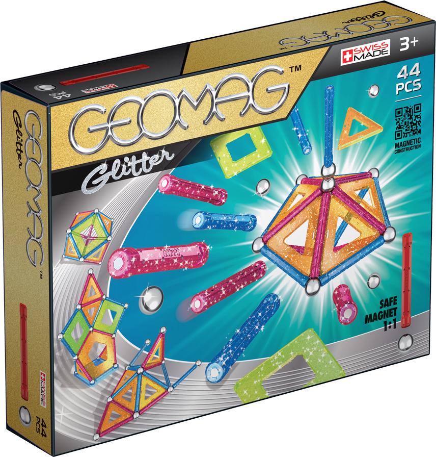 Geomag Конструктор магнитный Glitter 44 элемента geomag конструктор магнитный mechanics 164 элемента