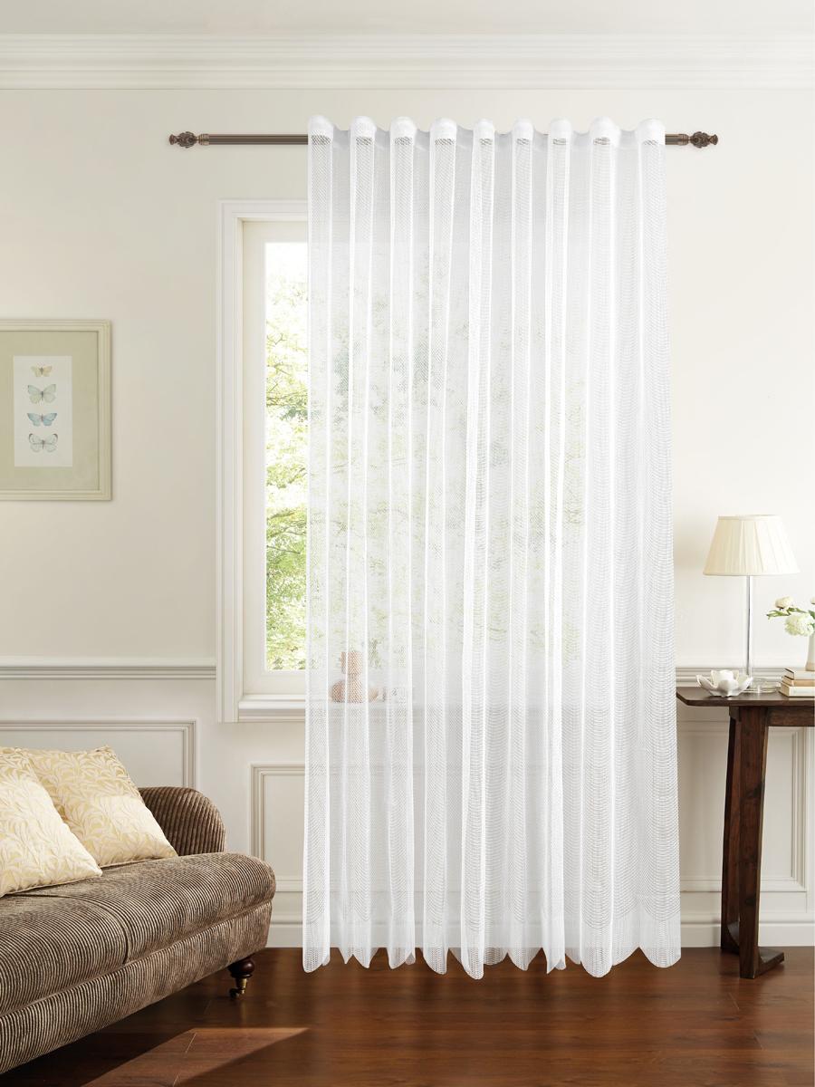 Штора готовая для гостиной Garden, на ленте, цвет: белый, 200 х 260 см. С 537299 V1133