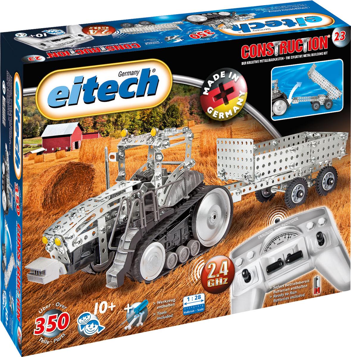 Eitech Конструктор металлический Трактор с прицепом развивающая игрушка конструктор трактор с тележкой бомик