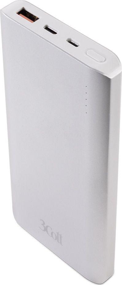 3Cott 3C-PB-100QC, Silver внешний аккумулятор (10 000 мАч)