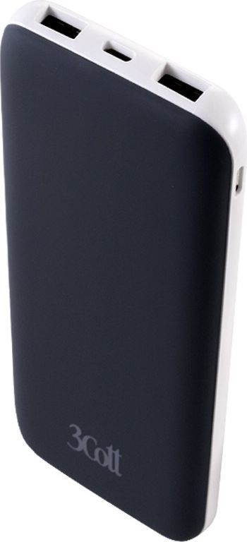 3Cott 3C-PB-100TC, Black внешний аккумулятор (10000 мАч)