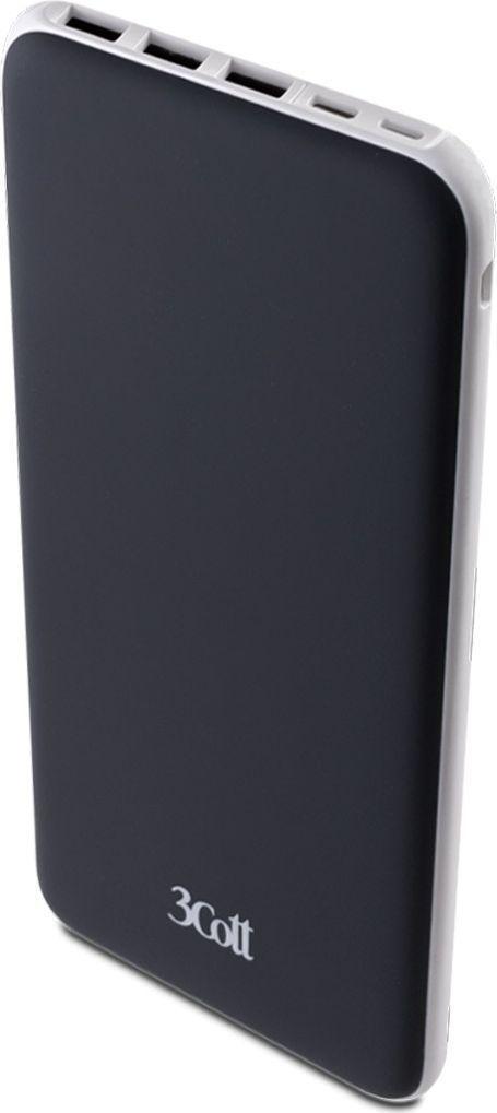 Фото - 3Cott 3C-PB-200TC, Black внешний аккумулятор (20000 мАч) внешний аккумулятор для портативных устройств hiper circle 500 blue circle500blue