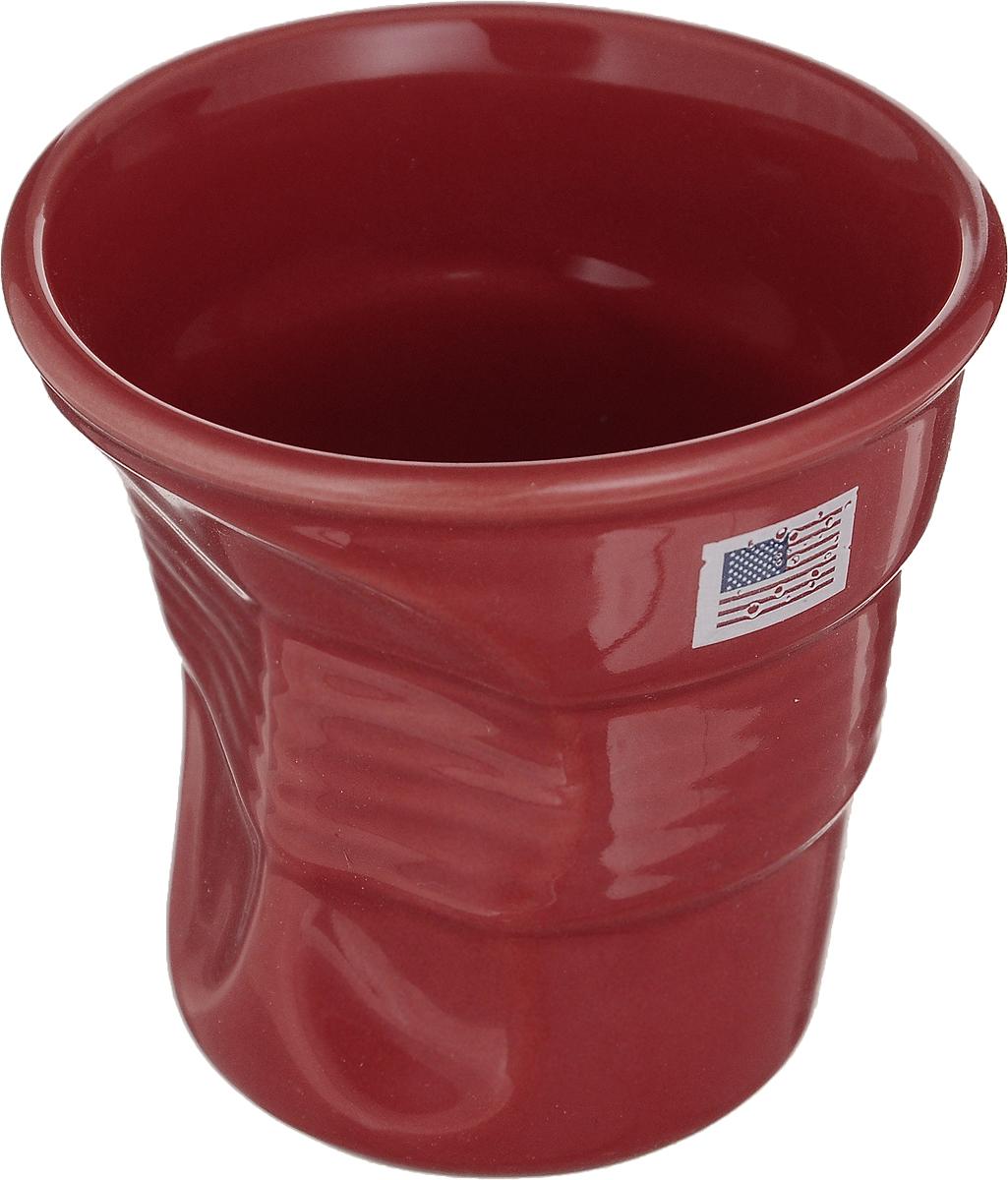 Стакан Карамба Американский флаг, цвет: красный, 150 мл3126Забавный небольшой керамический мятый стаканчик с изображением американского флага станет не только приятным, но и практичным сувениром.