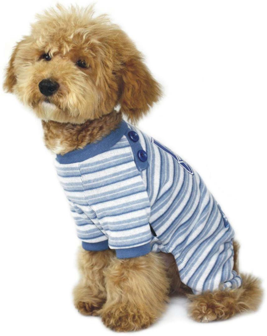 Комбинезон для собак  Dobaz , утепленный, цвет: белый, голубой. ДА1016БХХЛ. Размер XXL - Одежда, обувь, украшения