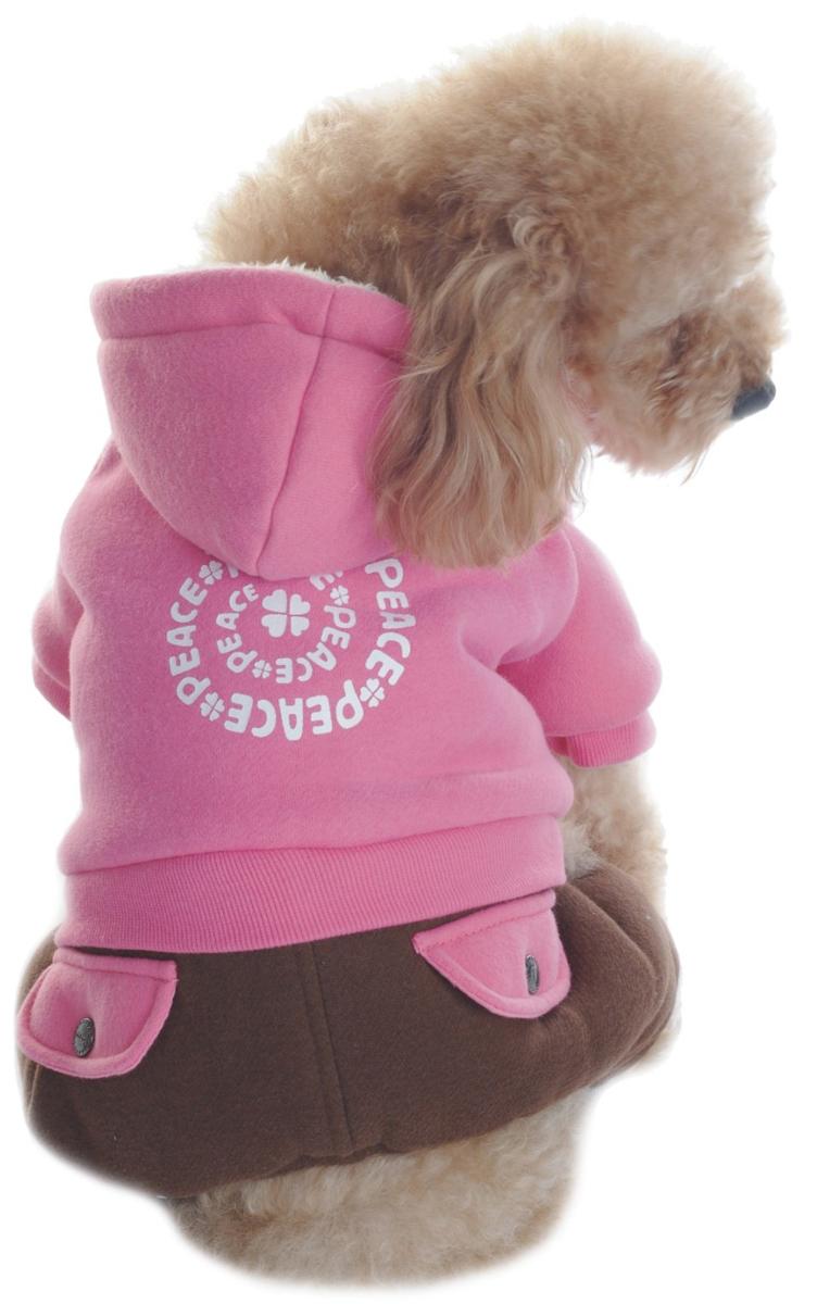 Комбинезон для собак Dobaz, утепленный, цвет: розовый, коричневый. ДА1123БХХЛ. Размер XXLДА1123БХХЛКомбинезон Dobaz утепленный выполнен из трикотажного материала. Изделие дополненоимитацией карманов.Обхват шеи: 40 см.Обхват груди: 60 см.Длина спинки: 41 см.Одежда для собак: нужна ли она и как её выбрать. Статья OZON Гид