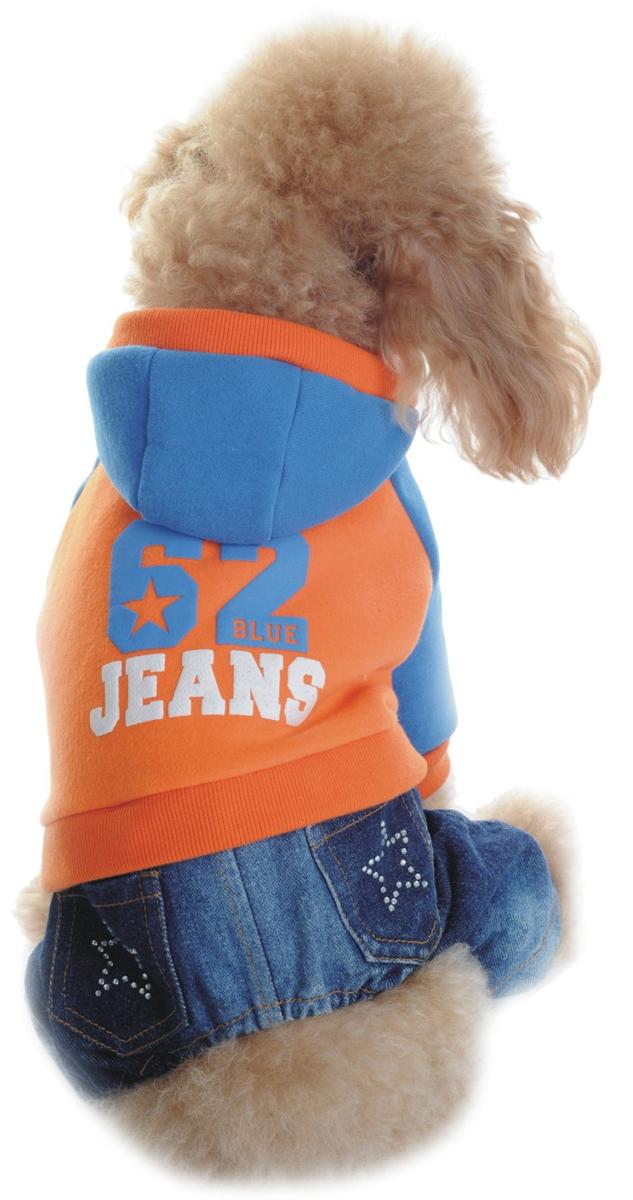 Комбинезон для собак Dobaz, утепленный, цвет: оранжевый. ДА1124БХХЛ. Размер XXL комбинезон для собак dobaz цвет оранжевый черный да13049сл размер l