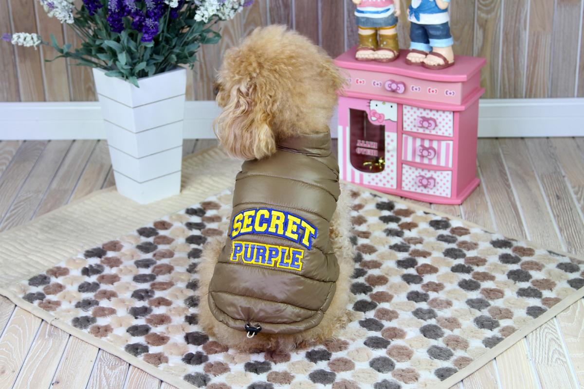 Куртка для собак Dobaz, цвет: коричневая бронза. ДА1207СХС. Размер XS куртка для собак dobaz цвет серый черный да1222вхс размер xs