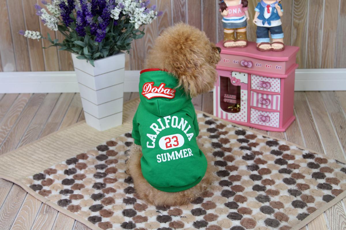 Толстовка для собак Dobaz  Carifonia , цвет: зеленый. ДА1209АХЛ. Размер XL - Одежда, обувь, украшения