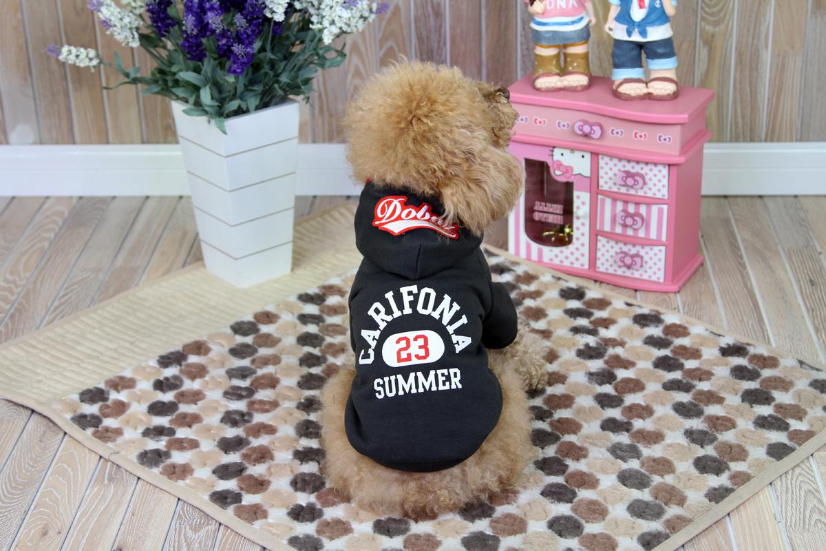 Толстовка для собак Dobaz Carifonia, цвет: черный. ДА1209ДЛ. Размер LДА1209ДЛТеплая нарядная трикотажная толстовка для собак Dobaz Carifonia с красивой отделкой на спинке.Обхват шеи: 31 см.Обхват груди: 48 см.Длина спинки: 33 см.Одежда для собак: нужна ли она и как её выбрать. Статья OZON Гид