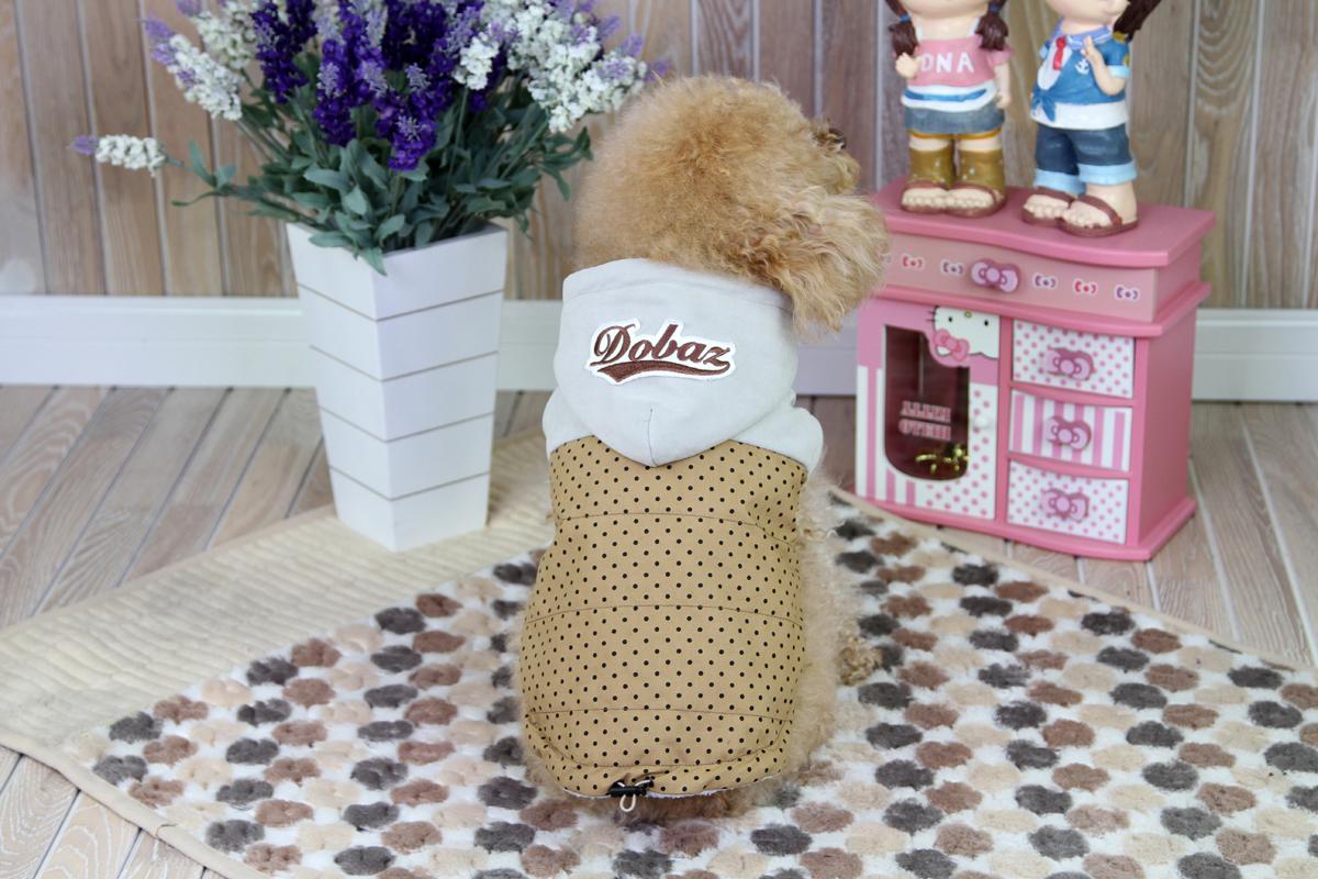 """Куртка для собак """"Dobaz"""", цвет: светло-коричневый, черный. ДА1222АХЛ. Размер XL"""