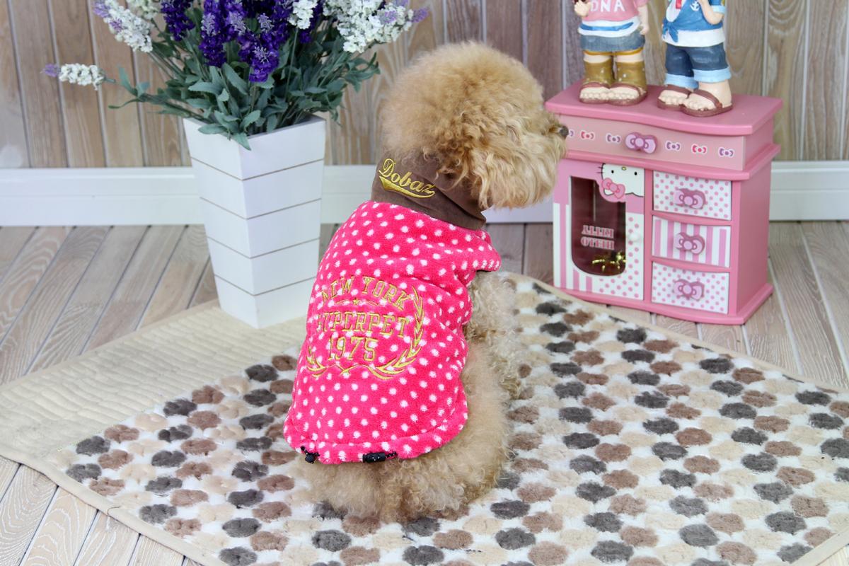 Толстовка для собак  Dobaz , для девочки, цвет: розовый, белый. ДА1224ВЛ. Размер L - Одежда, обувь, украшения