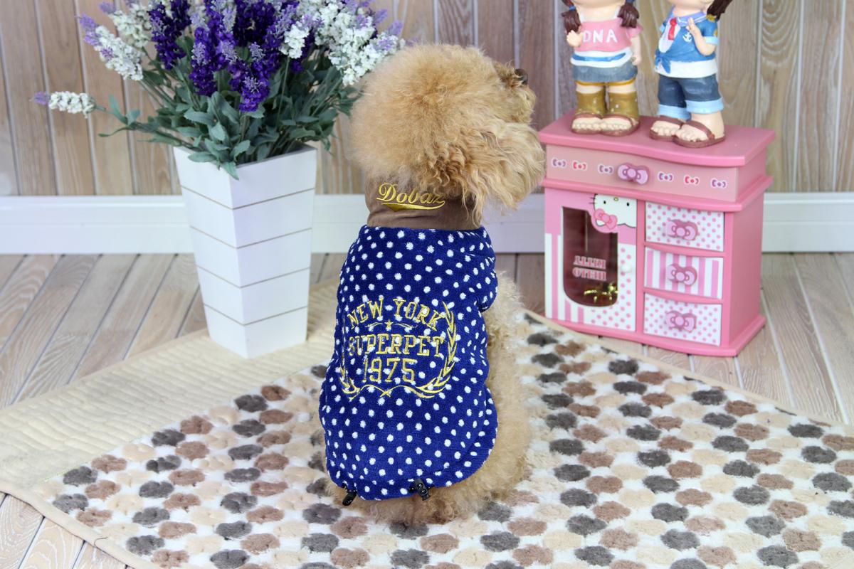 """Толстовка для собак """"Dobaz"""", унисекс, цвет: синий, белый. ДА1224ДХС. Размер XS"""