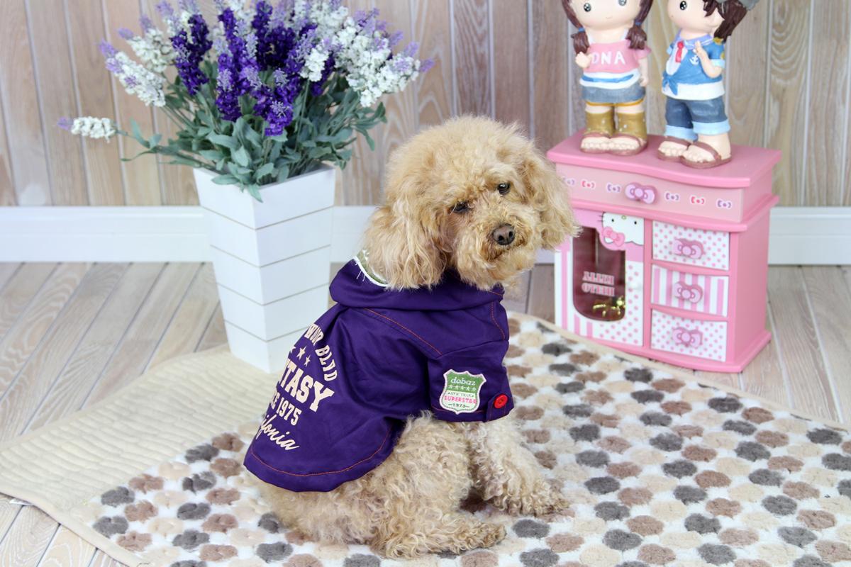 Куртка для собак Dobaz, цвет: фиолетовый. ДА1244СХЛ. Размер XL куртка для собак dobaz цвет голубой черный да1222схл размер xl