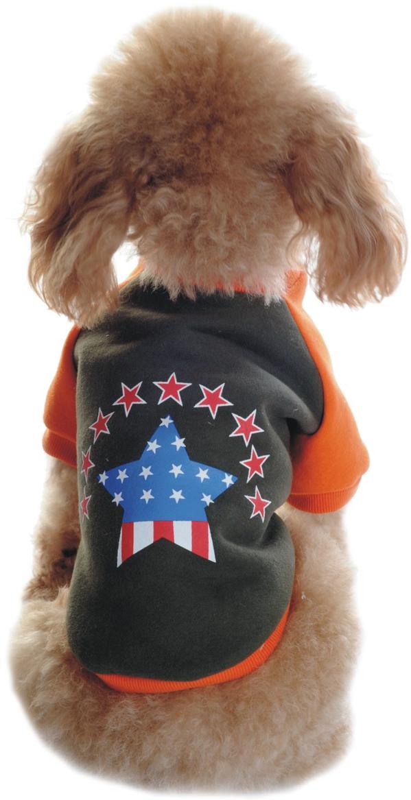 Майка-толстовка для собак Dobaz, утепленная, цвет: хаки, оранжевый. ДЛ1101АХЛ. Размер XL хаки xl