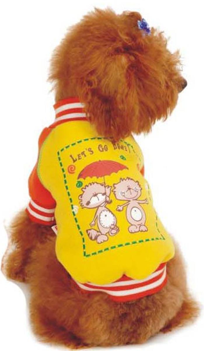 Майка-толстовка для собак Dobaz, утепленная, цвет: желтый. ДФ08025ДХХЛ. Размер XXLДФ08025ДХХЛМайка-толстовка для собак Dobaz с рукавами выполнена из хлопка. Изделие оформлено оригинальным принтом. Обхват шеи: 40 см.Обхват груди: 60 см.Длина спинки: 41 см.Одежда для собак: нужна ли она и как её выбрать. Статья OZON Гид