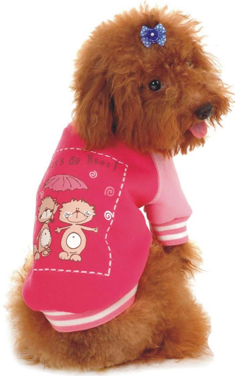 Майка-толстовка для собак Dobaz, утепленная, цвет: розовый. ДФ08025СХХЛ. Размер XXL куртка для собак dobaz утепленная цвет розовый дл1104аххл размер xxl