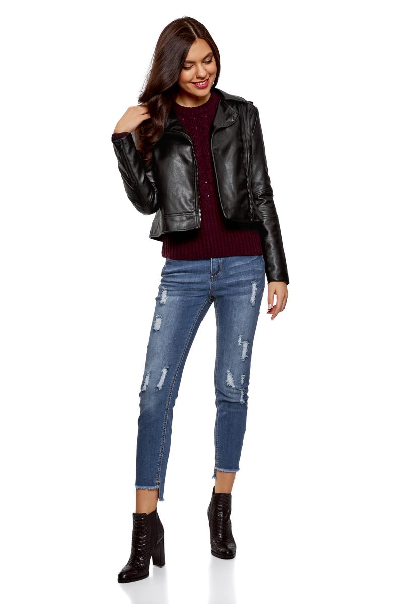 Джинсы женские oodji Ultra, цвет: синий джинс. 12103151-1/45379/7500W. Размер 27-32 (44-32) джинсы женские oodji ultra цвет темно синий джинс 12106146 46787 7900w размер 26 32 42 32