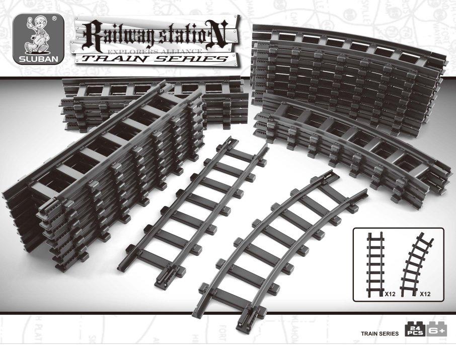 Sluban Конструктор Железнодорожный вокзал Рельсы конструктор железнодорожный вокзал