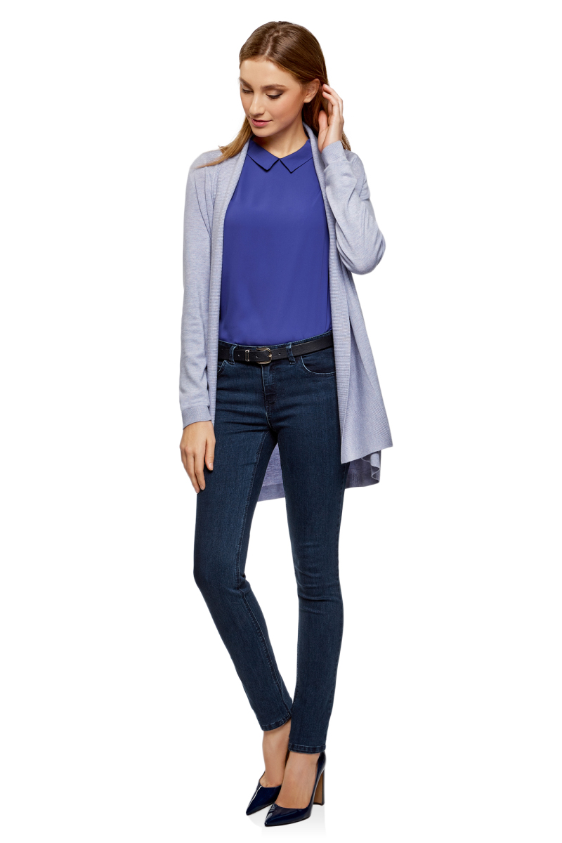 Джинсы женские oodji Ultra, цвет: темно-синий джинс. 12104059-1B/45877/7900W. Размер 25-32 (40-32)