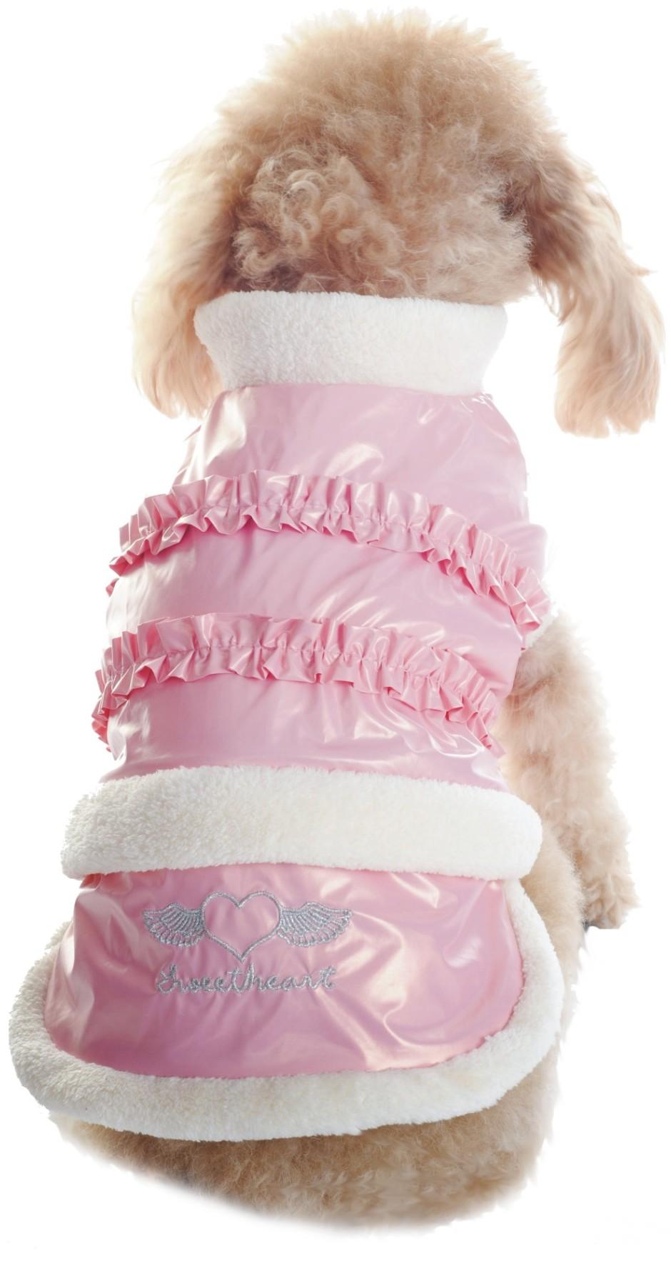 Куртка для собак Dobaz, утепленная, цвет: розовый. ДЛ1109АХС/п. Размер XSДЛ1109АХС/пМягкая теплая болоневая курточка Dobaz предназначена для использования в прохладную ветреную погоду. Отлично защищает собаку в от холода. Толстовку можно быстро надеть и снять, что делает ее идеальной для согревания активных мышц собак до и после прогулки или тренировки.Обхват шеи: 20 см.Обхват груди: 31 см.Длина спинки: 21 см.Одежда для собак: нужна ли она и как её выбрать. Статья OZON Гид