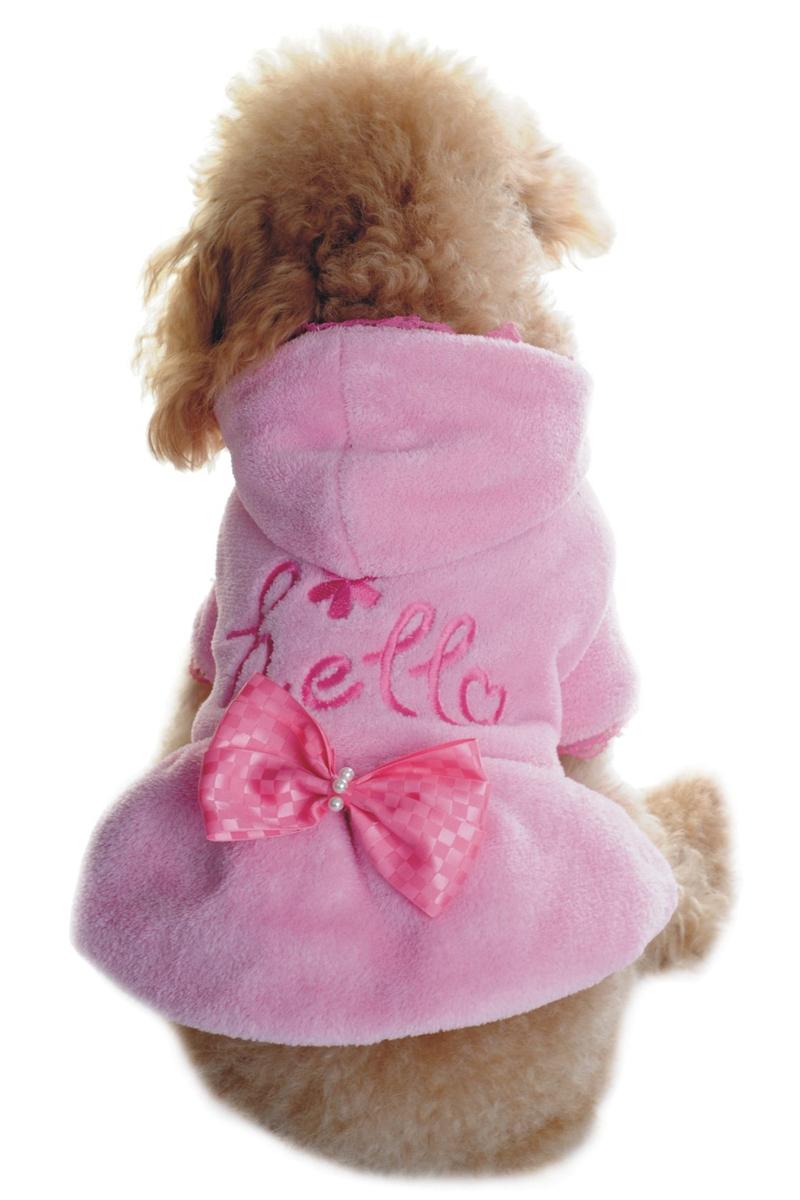 Куртка для собак Dobaz, цвет: розовый. ДА1134АМ/п. Размер MДА1134АМ/пОчаровательная мягкая махровая курткочка Dobaz для вашего верного друга. Не стесняет движений и не шуршит. Защищает от холода и ветра. Куртка отлично подойдет для использования в прохладную погоду, поэтому вам не придется отказываться от прогулки с вашим четвероногим другом, боясь, что он заболеет. Обхват шеи: 27 см.Обхват груди: 42 см.Длина спинки: 28 см.Одежда для собак: нужна ли она и как её выбрать. Статья OZON Гид