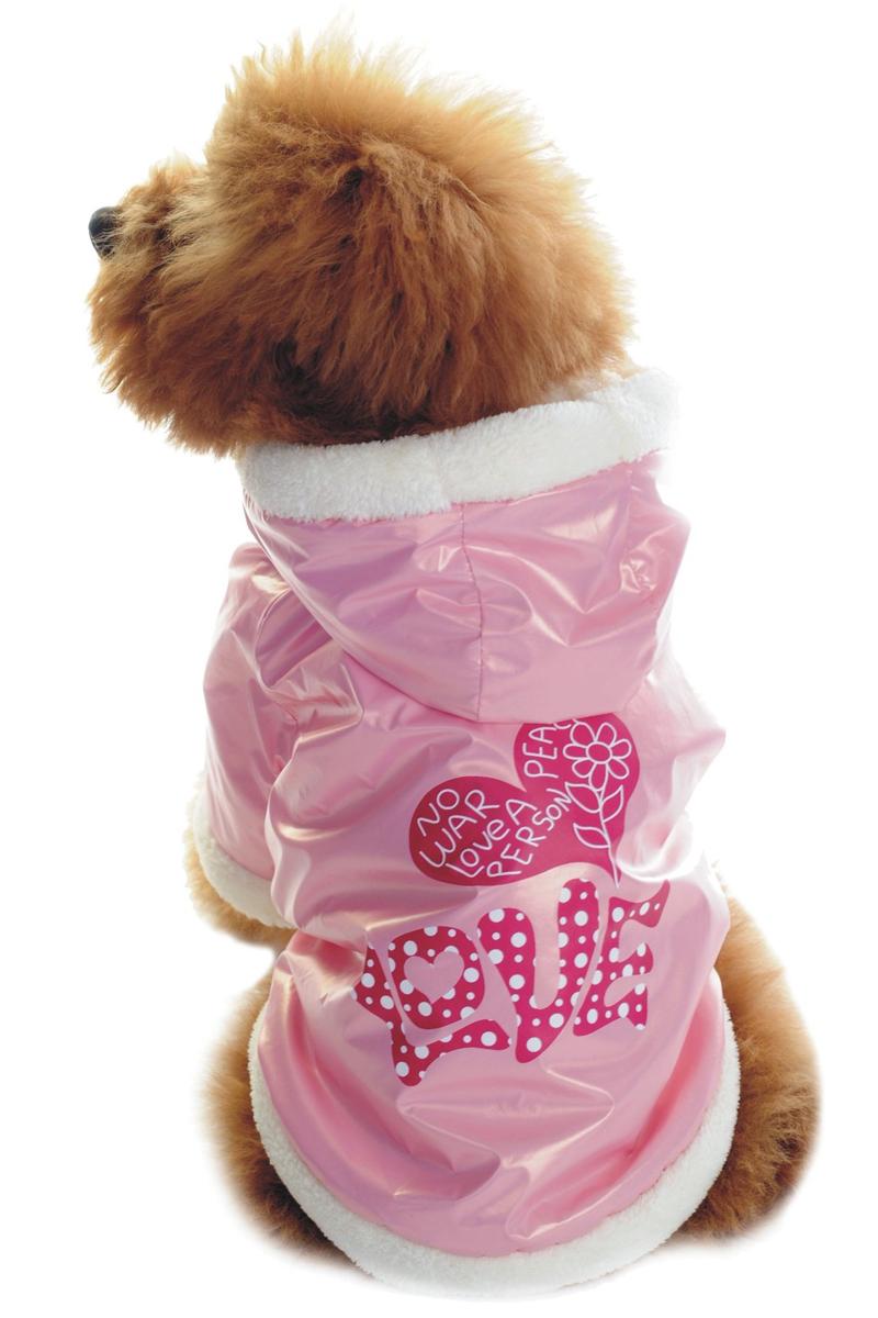 Куртка для собак Dobaz LOVE, цвет: нежно-розовый. ДА1128АХС/п. Размер XS плейбой гость 2017 мужчина меховая одежда осенне зимний флис коммерческий пар рu куртка мех единство меховая одежда пальто мужск