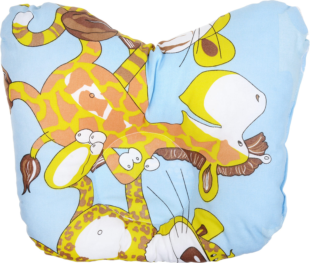 Сонный гномик Подушка анатомическая Африка для младенцев цвет голубой 27 х 27 см555А_голубой/африкаАнатомическая подушка для младенцев Сонный гномик компактна и удобна для пеленания малыша и кормления на руках, она также незаменимадля сна ребенка в кроватке и комфортна для использования в коляске на прогулке. Углубление в подушке фиксирует правильное положениеголовы ребенка.Подушка помогает правильному формированию шейного отдела позвоночника.