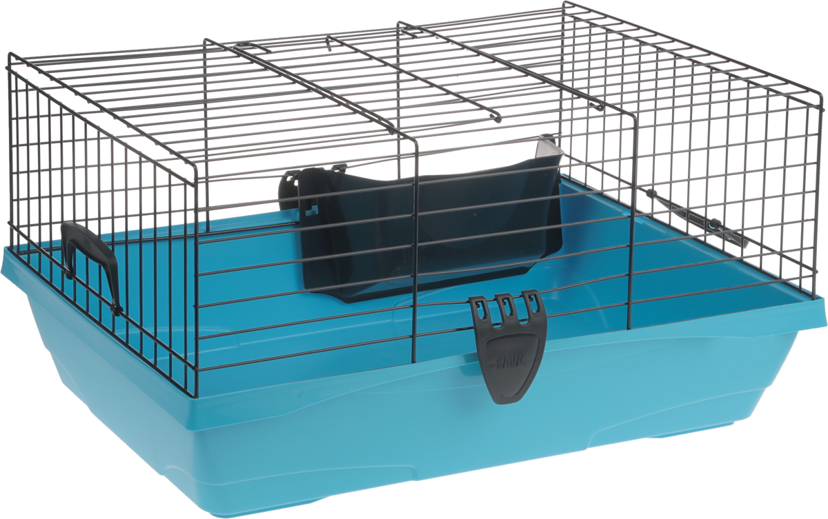 Клетка для грызунов Savic Titus, цвет: синий, голубой, 59 х 38 х 26 см