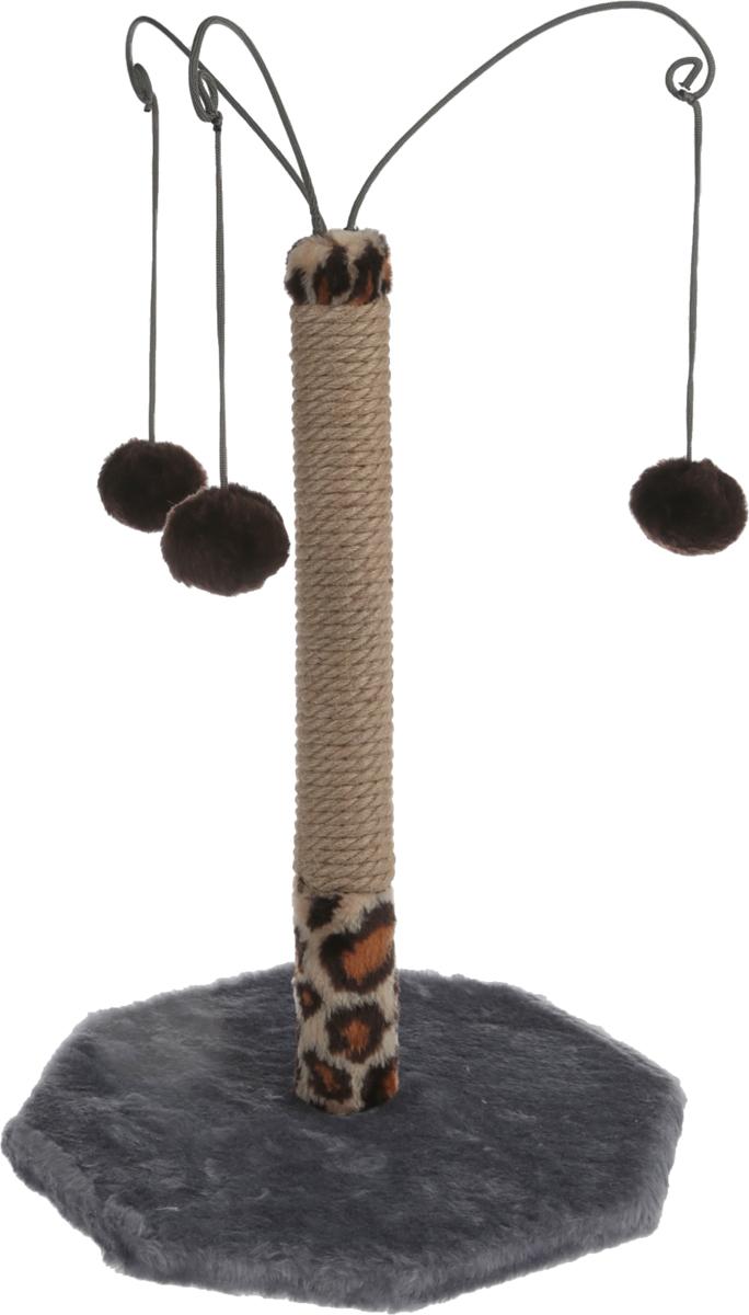 Когтеточка Велес, с тремя игрушками, цвет: серый, 35 х 35 х 53 см17_голубой, сиреневыйКогтеточка Велес, с тремя игрушками, поможет сохранить мебель иковры в доме от когтей вашего любимца, стремящегосяудовлетворить свою естественную потребность точитькогти. Когтеточка изготовлена из ДСП, искусственногомеха и джута. Товар продуман в мельчайших деталях и,несомненно, понравится вашей кошке.Всем кошкам необходимо стачивать когти. Когтеточка -один из самых необходимых аксессуаров для кошки. Длялегкого приучения питомца изделие обработанопривлекающей пропиткой.Когтеточка поможетвашему любимцу стачивать когти и при этом не портитьвашу мебель.